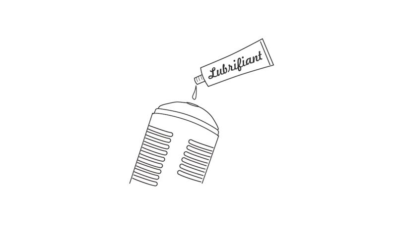 Appliquer généreusement du lubrifiant à base d'eau dans le manchon de Max.