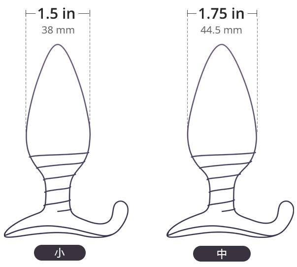 LovenseのHushは2サイズご用意しております。1.5インチと1.75インチです。