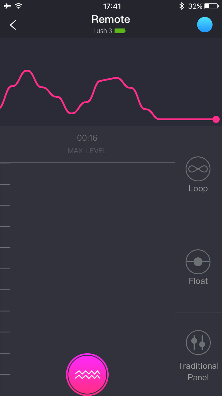 Lovense Remoteアプリのスクリーンショット:伝統的なリモコン